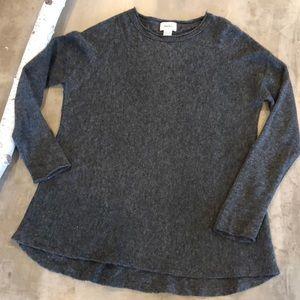 Neiman Marcus Heather Grey Cashmere Sweater Large
